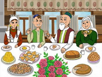 Свадебное застолье и татарские блюда