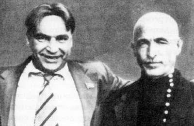 летчик Валерий Чкалов  и Мустафа Саберов