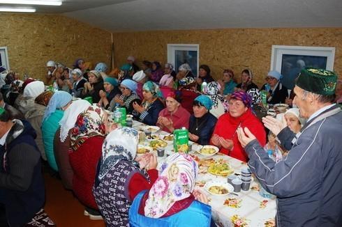 ифтар в селе Урга