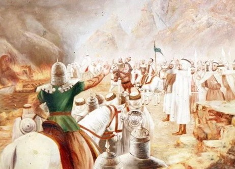 Битва при Ухуде атака мусульман
