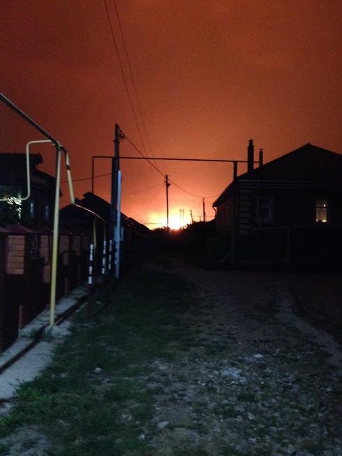 Факельное горение газа фото с.Шубино