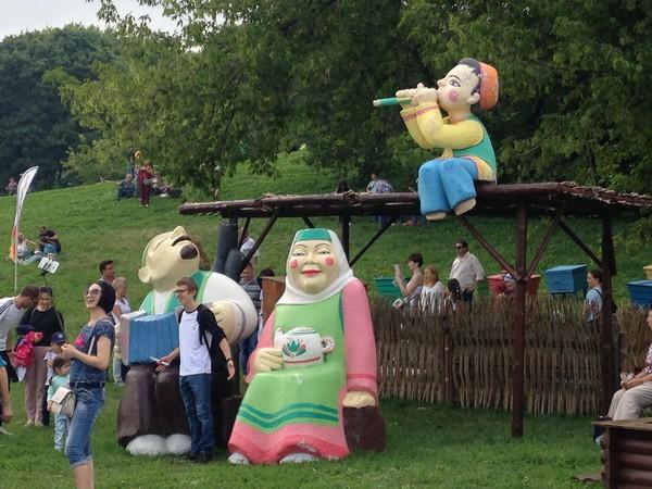 Сабантуй в Коломенском 2018 татарская народная скульптура