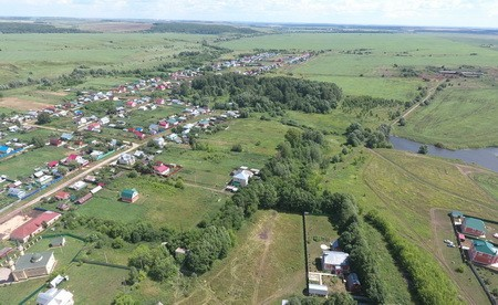 село Анда вид с высоты