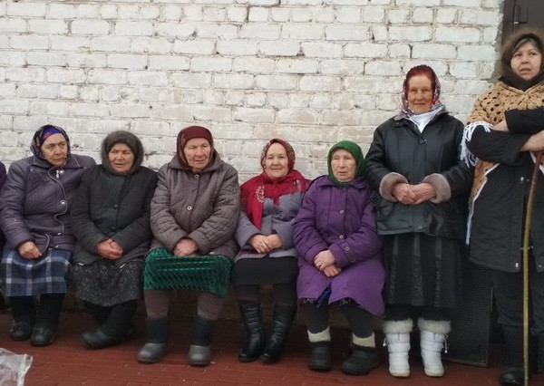 Жители села Шубино на празднике