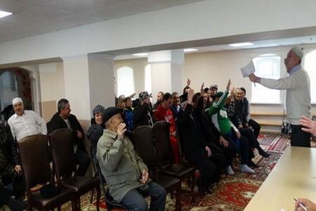 Меджлис в мечети с.Шубино
