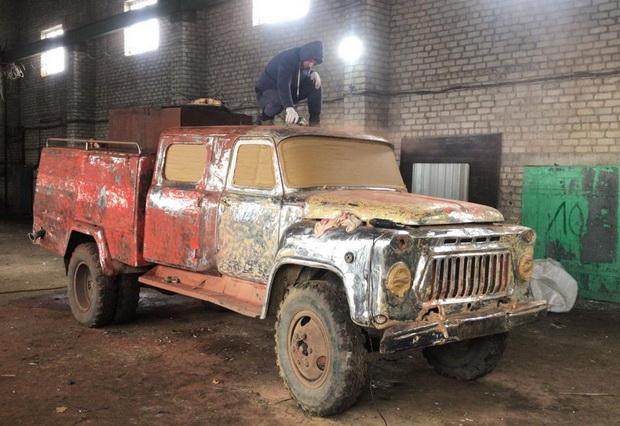 село Шубино.пожарная машина