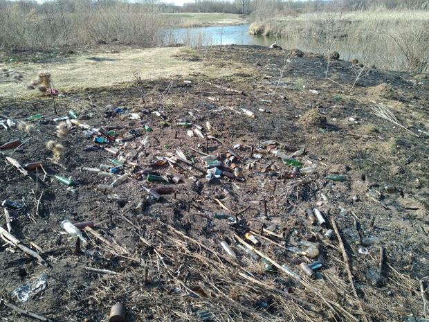 Село Шубино уборка мусора